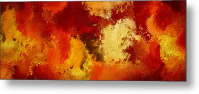 Autumn's Abstract Beauty Metal Print