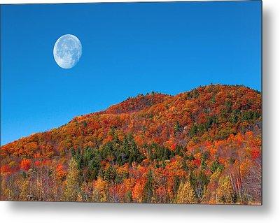 Metal Print featuring the photograph Autumn's Big Moon  by Larry Landolfi