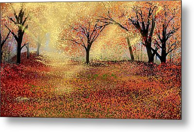 Metal Print featuring the digital art Autumn's Colors by Anthony Fishburne