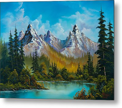 Autumn's Magnificence Metal Print by C Steele