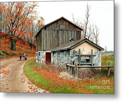Autumn's Past Time  Metal Print