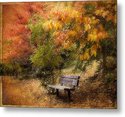 Autumn's Repose Metal Print by Jessica Jenney