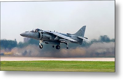 Av-8b Harrier Metal Print by Adam Romanowicz