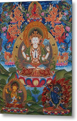 Avalokitesvara The Great Compassionate One Metal Print by Art School