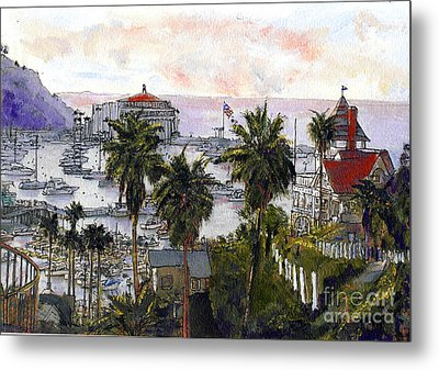 Avalon Harbor Early Morning Metal Print by Randy Sprout