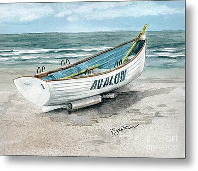 Avalon Lifeguard Boat  Metal Print