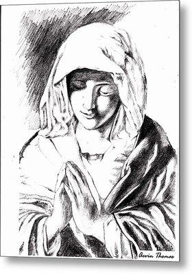 Ave Maria Metal Print by Aevin Thomas