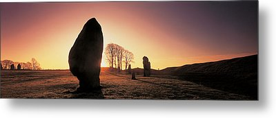 Avebury Wiltshire England Metal Print by Panoramic Images