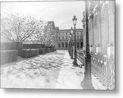 Avenue De La Louve In Black And White Metal Print by Ramona Murdock
