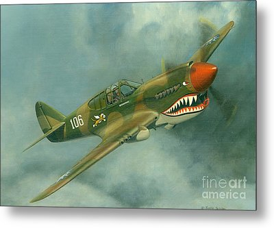 Avg Flying Tiger Metal Print by Michael Swanson