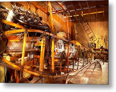 Aviation - Early Days Of Aviation Metal Print by Mike Savad