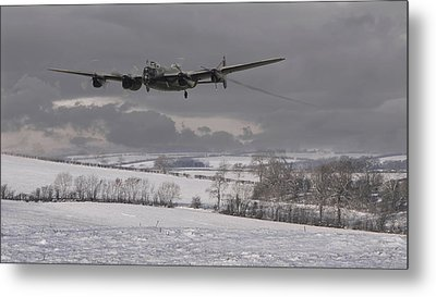 Avro Lancaster - Limping Home Metal Print by Pat Speirs