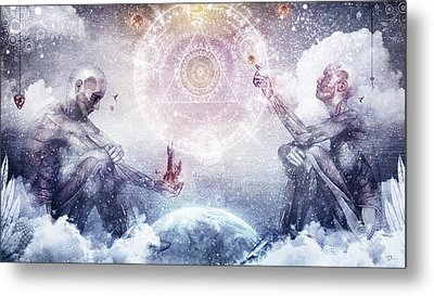 Awake In A Silver Land Metal Print