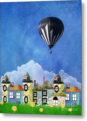 Away Above The Chimney Tops Metal Print by Juli Scalzi