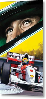 Metal Print featuring the painting Ayrton Senna Artwork by Sheraz A