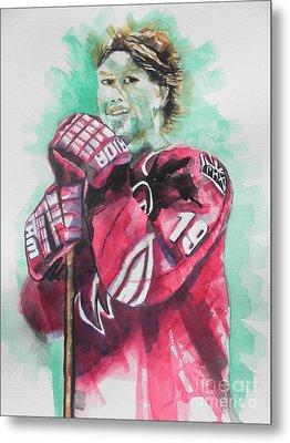 Az Coyotes ...hockey Player Shane Doan Metal Print by Chrisann Ellis