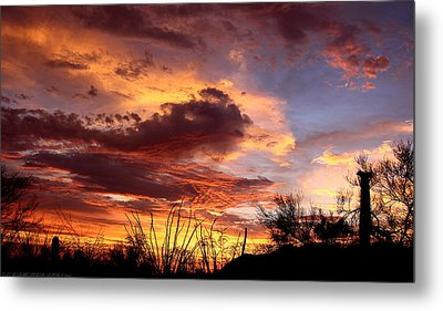 Az Monsoon Sunset Metal Print