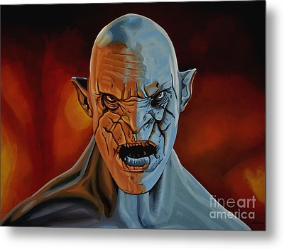 Azog The Orc Painting Metal Print by Paul Meijering