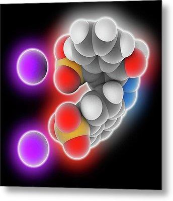 Azorubine Food Dye Molecule Metal Print