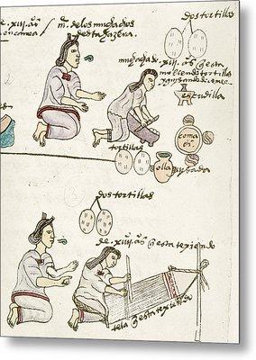 Aztec Daily Life, C1540 Metal Print by Granger