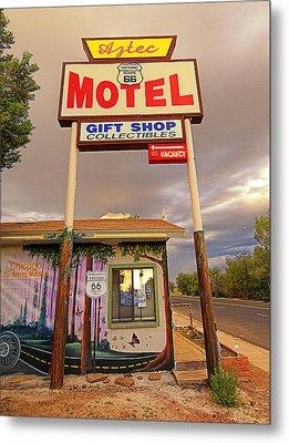 Aztec Motel On Route 66 Metal Print