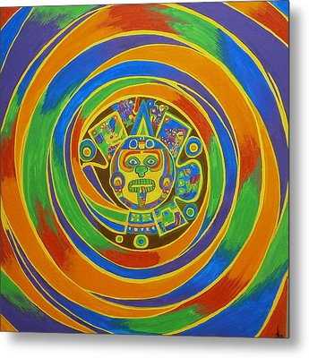 Aztec Vortex Metal Print by Drew Shourd