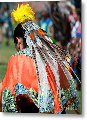 Aztecan Ceremony 6 Metal Print by Gwyn Newcombe