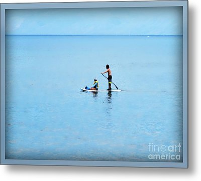 Metal Print featuring the photograph Azure by Leslie Hunziker