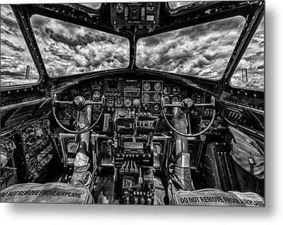 B-17 Cockpit Metal Print