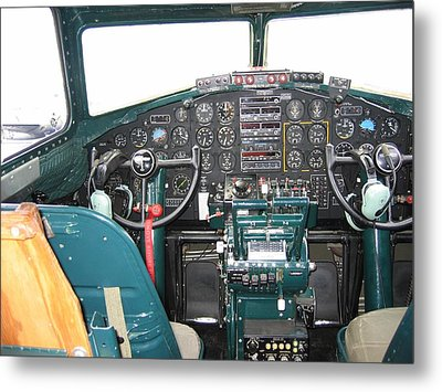 B-17 Flying Fortress Yankee Lady Cockpit Metal Print