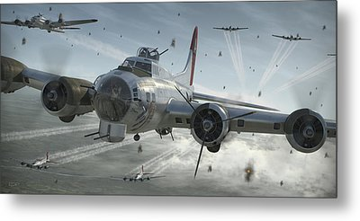 B-17g Hikin' For Home Metal Print