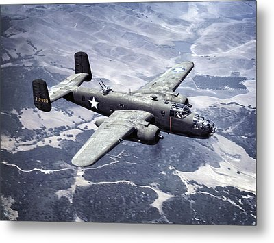 B-25 World War II Era Bomber - 1942 Metal Print by Daniel Hagerman