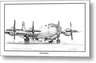B-29 Metal Print by Kenneth De Tore