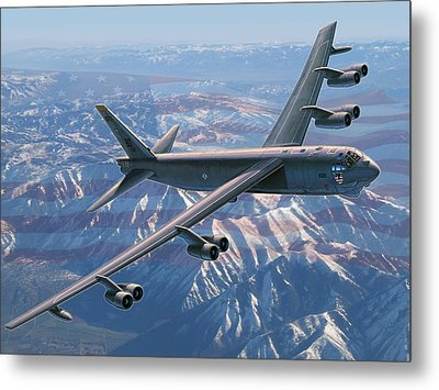 B-52 Stratofortress  America's Backbone Metal Print by Stu Shepherd