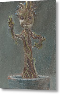 B And G Is For Baby Groot Metal Print by Jessmyne Stephenson