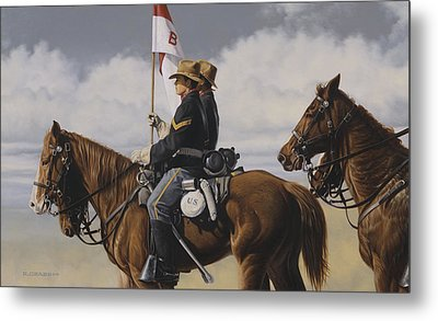 B Troop Metal Print by Ron Crabb