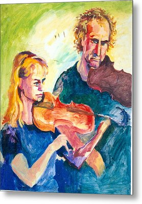 B02. Duet Players Metal Print