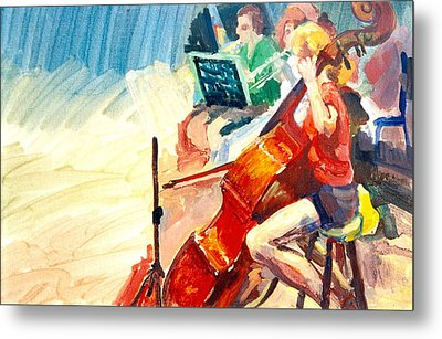 B03. The Cellist Metal Print