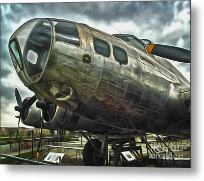 B17 Bomber Metal Print by Gregory Dyer