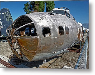B17 Derelict Airplane - 01 Metal Print by Gregory Dyer