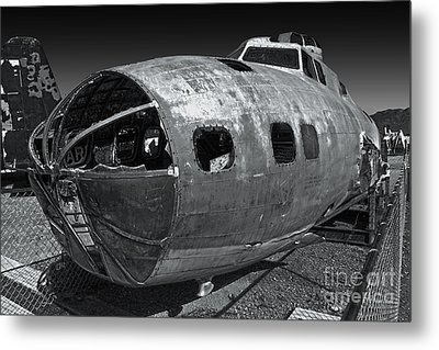 B17 Derelict Airplane - 02 Metal Print by Gregory Dyer