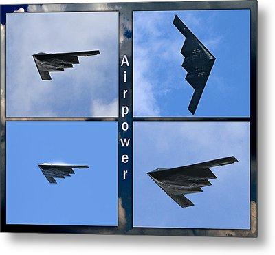 Metal Print featuring the photograph B2 Stealth Bomber by John Freidenberg