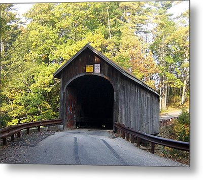 Babbs Covered Bridge Metal Print by Catherine Gagne