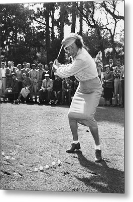 Babe Didrikson Demonstration Metal Print by Julian Graham