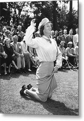 Babe Didrikson Zaharias Metal Print by Underwood Archives