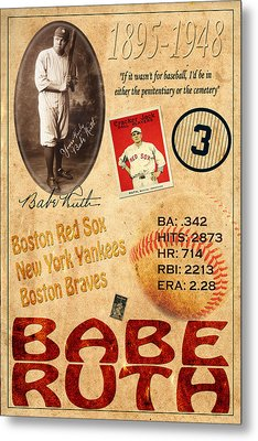 Babe Ruth Metal Print by Andrew Fare