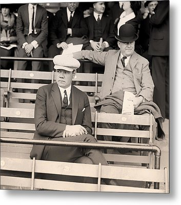 Babe Ruth In The Stands At Griffith Stadium 1922 Metal Print by Mountain Dreams