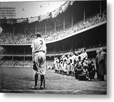Babe Ruth Poster Metal Print by Gianfranco Weiss