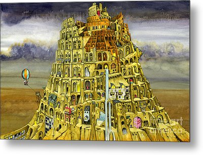 Babel Metal Print by Colin Thompson