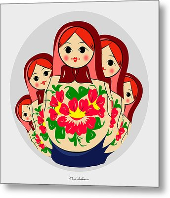 Babushka Metal Print by Mark Ashkenazi